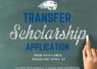 Transfer Scholarship Applications Now Available
